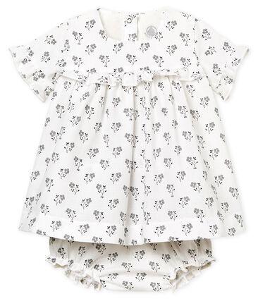 Robe imprimée et bloomer bébé fille blanc Marshmallow / blanc Multico