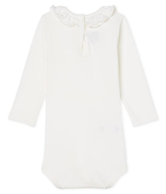 Body manches longues avec collerette bébé fille blanc Marshmallow Cn