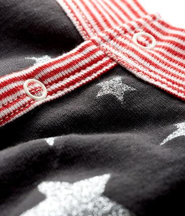 Couverture chien en côte gris Capecod / gris Argent