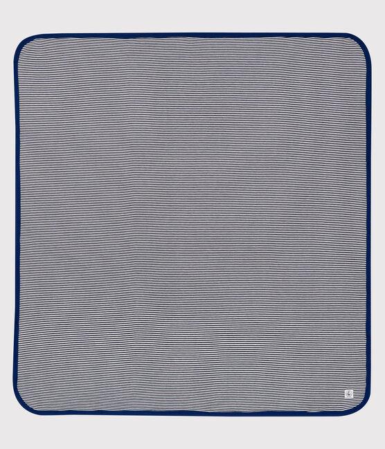 Couverture anti-ondes bleu Smoking / blanc Ecume