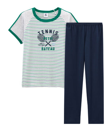 Pyjama à manches courtes petit garçon en côte