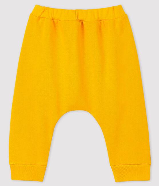 Pantalon garçon en molleton jaune Boudor