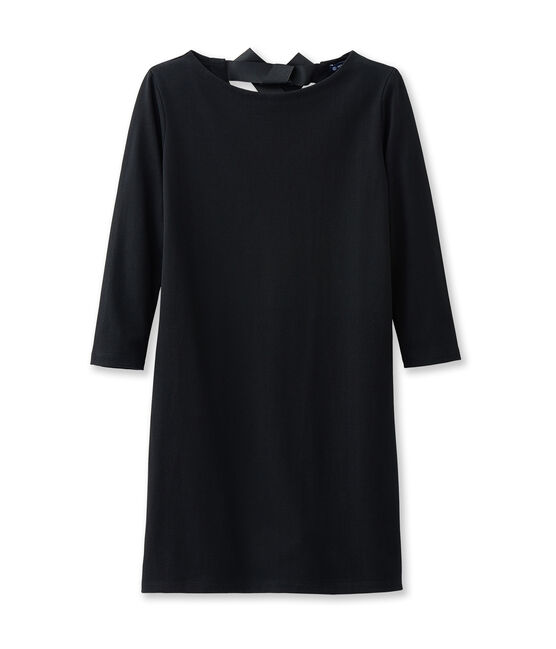 Robe femme à manches longues noir Noir