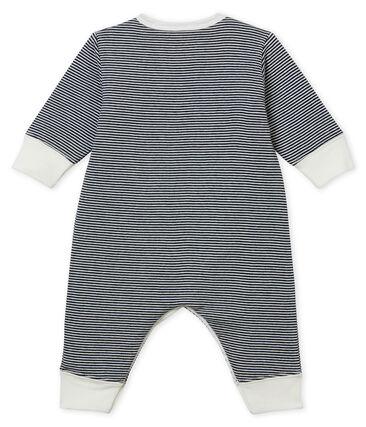 Dors bien sans pieds bébé garçon en tubique bleu Smoking / blanc Marshmallow