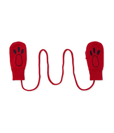 Moufles bébé mixte rouge Froufrou