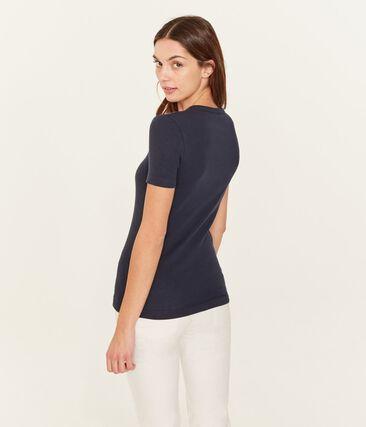 Tee shirt iconique femme bleu Smoking