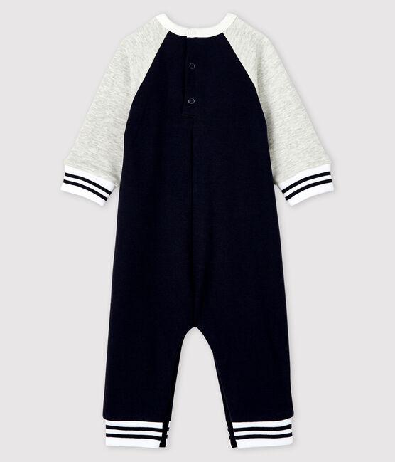 Combinaison longue bébé garçon bleu Smoking / gris Beluga