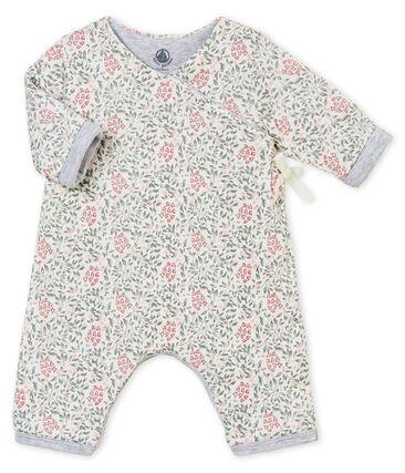 Combinaison ouatinée et imprimée bébé fille