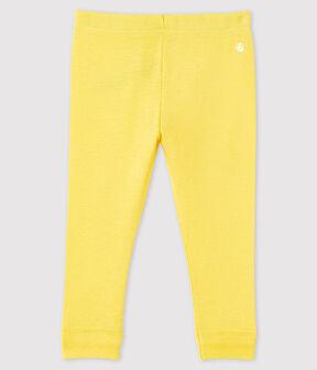 Legging en coton bébé fille jaune Raiponce