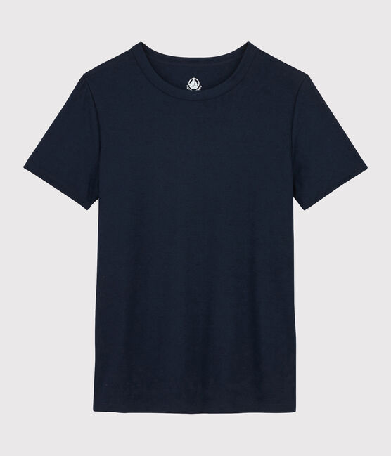 T-shirt coton Sea Island Femme bleu Marine