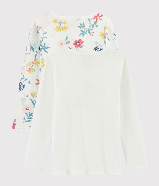 Lot de 2 tee-shirts manches longues imprimé fleuri petite fille lot .