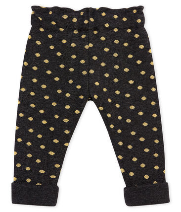 Pantalon bébé fille imprimé pois dorés