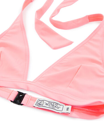 Haut de maillot de bain femme rose Fluo Rose
