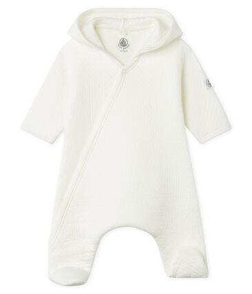 Combinaison longue bébé en tubique matelassé blanc Marshmallow
