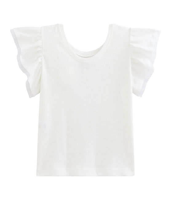Tee-shirt enfant fille blanc Marshmallow