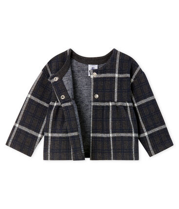 Cardigan bébé fille à carreaux noir City / blanc Multico