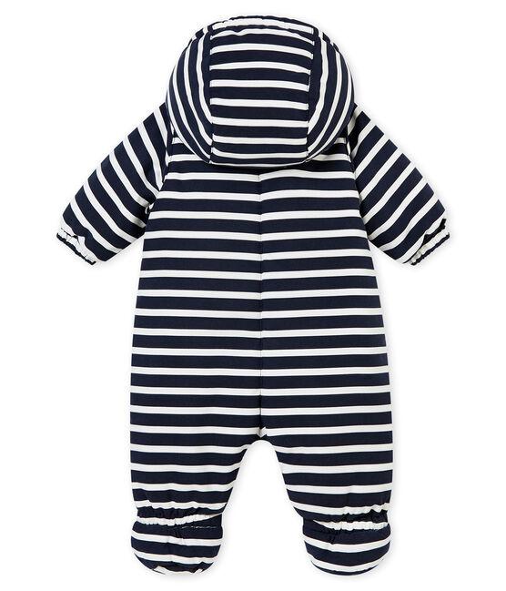 Combipilote microfibre rayure marinière bébé garçon bleu Smoking / blanc Marshmallow