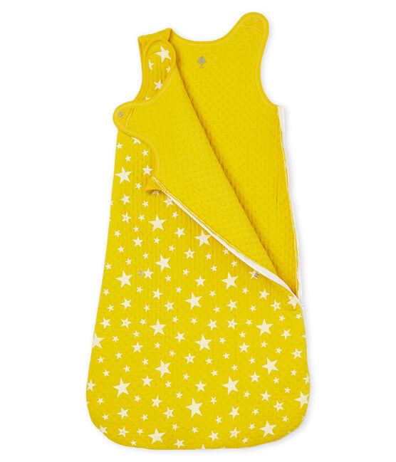 Gigoteuse compacte bébé garçon en tubique jaune Honey / blanc Marshmallow