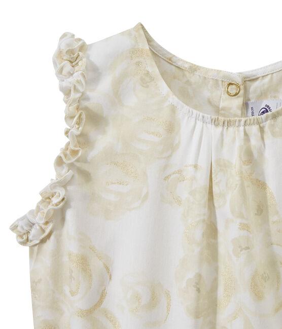 Robe fille sans manches imprimée blanc Marshmallow / blanc Multico