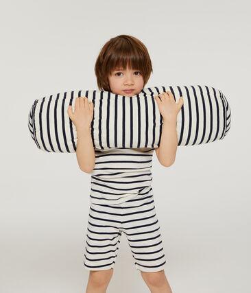 Pyjacourt petit garçon en côte blanc Marshmallow / bleu Smoking