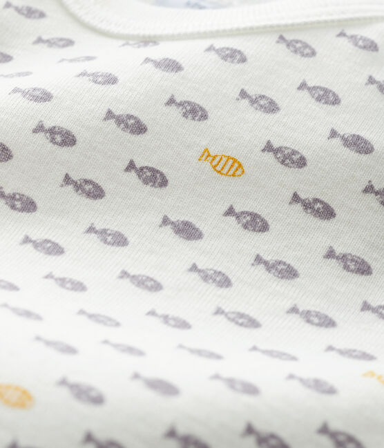 Body manches longues bébé garçon blanc Marshmallow / blanc Multico