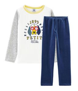 Pyjama petit garçon en velours