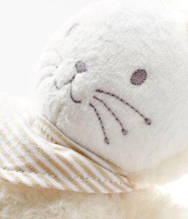 Doudou lapin musical bébé en sherpa