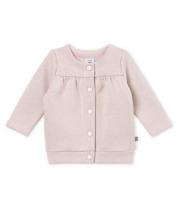 Cardigan bébé fille en molleton brillant rose Joli / jaune Dore