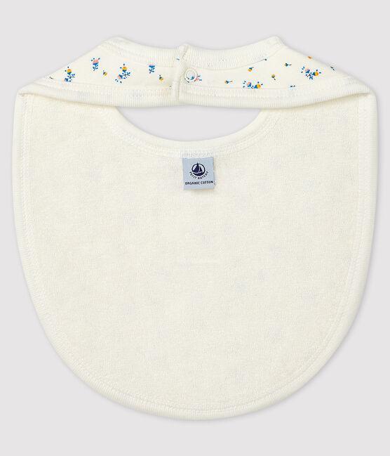 Bavoir bébé en côte blanc Marshmallow / gris Gris
