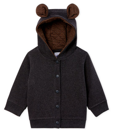 Sweatshirt à capuche bébé garçon en côte élasthanne gris City Chine