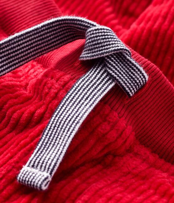 Pantalon bébé garçon en velours rouge Terkuit