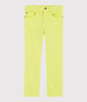 Pantalon en serge enfant garçon jaune Citronel