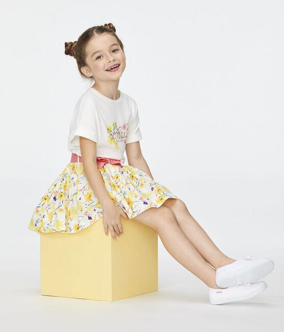 Jupe enfant fille blanc Marshmallow / blanc Multico