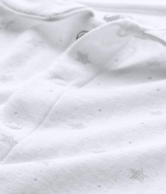 Dors-bien bébé mixte et son bonnet de naissance blanc Ecume / marron Shitake