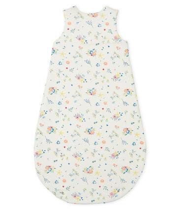 Gigoteuse bébé fille en côte blanc Marshmallow / blanc Multico