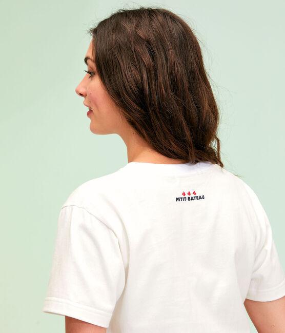 Tee shirt unisexe blanc Ecume