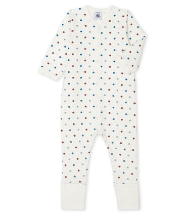 Dors bien pieds réversibles bébé garçon blanc Marshmallow / blanc Multico