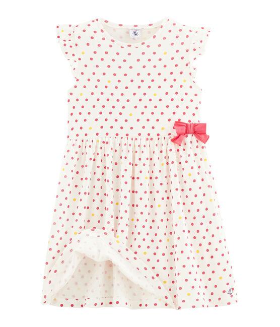 Robe enfant fille blanc Marshmallow / blanc Multico