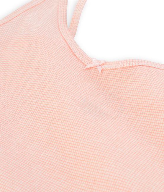 Chemise à bretelles femme blanc Marshmallow / rose Rosako
