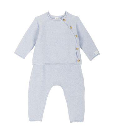 Ensemble deux pièces bébé en coton, laine mérinos et polyester