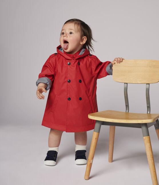 Trench en polyurethane bébé fille rouge Terkuit