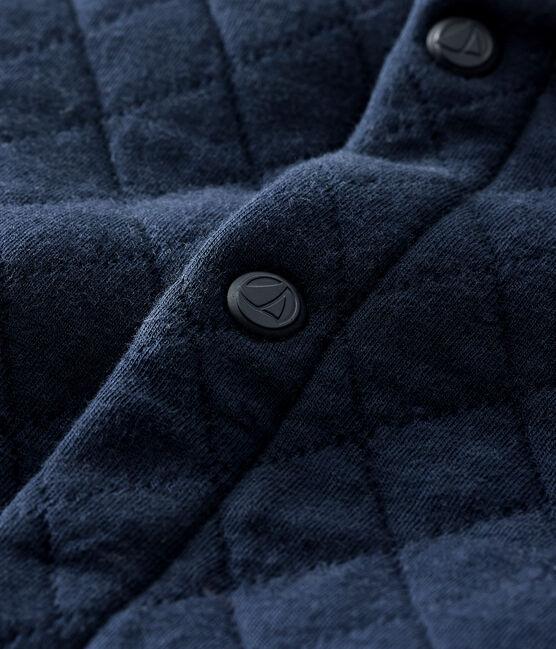 Cardigan bébé garçon en tubique matelassé bleu Smoking