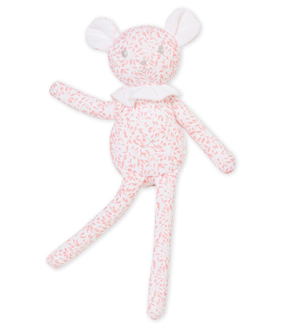 Doudou agneau jersey imprimé blanc Marshmallow / rose Joli