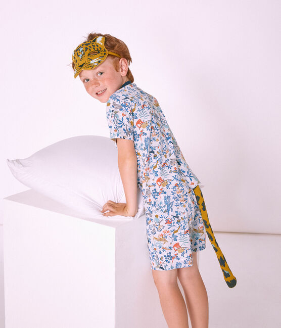 Accessoires petit garçon jaune Bamboo / blanc Multico