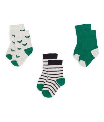 Lot de 3 paires de chaussettes bébé garçon gris Beluga