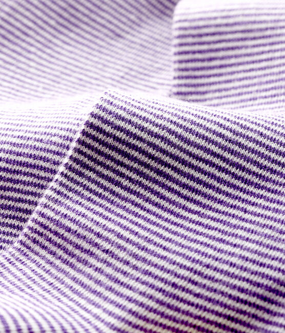 Chaussettes hautes femme blanc Marshmallow / violet Real