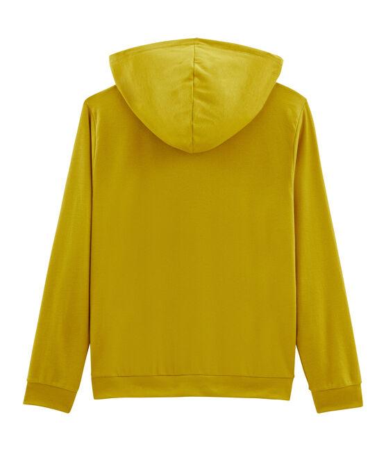 Sweat à capuche femme jaune Bamboo