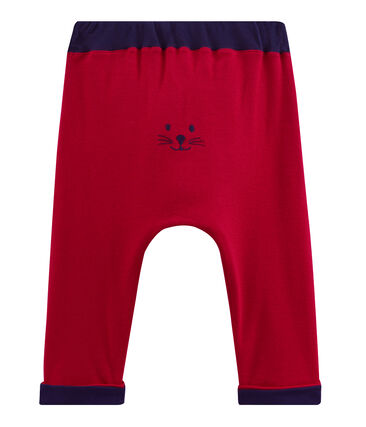 Pantalon bébé garçon en maille rouge Terkuit
