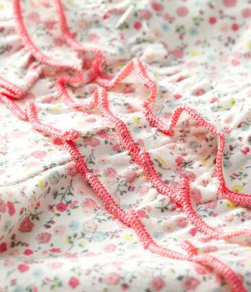 Legging imprimé bébé fille blanc Marshmallow / blanc Multico