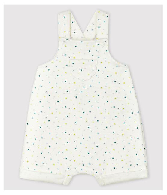 Combicourt bébé en jersey double face en coton biologique blanc Marshmallow / blanc Multico